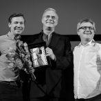 David Kross, Stephen Daldry a Mike Downey_Zlatá kamera