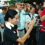 Geraldine Chaplinlaureátka ocenenia Hercova misia 1997